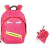 "ZIPIT Grillz Carrying Case (Backpack) for Books, Binder, Clothing, Tablet, Snacks, Bottle, School - Pink - Polyester - Shoulder Strap - 16.5"" Height x 11.2"" Width x 14.5"" Depth"