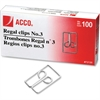 Acco Regal Owl Paper Clips - No. 3 - 20 Sheet Capacity - for Office, Home, School, Paper - Scratch Resistant, Tear Resistant - 200 / Pack - Silver