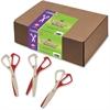"ChenilleKraft Safety Cut Scissors Classpack - 5.5"" Overall Length - Blunted - Left/Right - Plastic, Aluminum - Assorted"