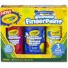Crayola Washable Fingerpaint Bold Colors Set - 8 oz - 3 / Set - True Blue, Lemon Yellow, Fire Engine Red
