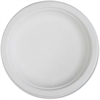 "Genuine Joe Compostable Plates - 50 / Pack - 6"" Diameter Plate - Sugarcane - Disposable - White - 1000 Piece(s) / Carton"