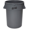 "Genuine Joe 44-gal Heavy-duty Trash Container - 44 gal Capacity - Heavy Duty, Handle - 24"" Height x 31.5"" Width x 24"" Depth - Gray"