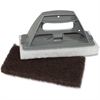 Genuine Joe Cleaning Pad Holder - 12 / Carton - Gray