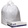 "Genuine Joe Extra Heavy-duty White Trash Can Liners - 33"" Width x 39"" Length x 9 mil (229 Micron) Thickness - Low Density - White - 100/Carton - Industrial Trash"