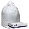 """Genuine Joe Extra Hvy-duty White Trash Can Liners - 38"""" Width x 58"""" Length x 9 mil (229 Micron) Thickness - Low Density - White - 100/Carton - Can, Waste Disposal"""