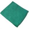 "Genuine Joe General Purpose Microfiber Cloth - Cloth - 16"" Width x 16"" Length - 180 / Carton - Green"