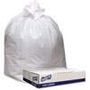 "Genuine Joe Extra Heavy-duty White Trash Can Liners - 40"" Width x 46"" Length x 9 mil (229 Micron) Thickness - Low Density - White - 100/Carton - Industrial Trash"