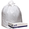 "Genuine Joe Extra Heavy-duty White Trash Can Liners - 43"" Width x 47"" Length x 9 mil (229 Micron) Thickness - Low Density - White - 100/Carton - Industrial Trash"