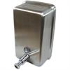 Genuine Joe Stainless Vertical Soap Dispenser - Manual - 40 fl oz (1183 mL) - Stainless Steel