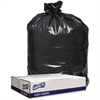 "Genuine Joe 1.6 mil Trash Can Liners - 43"" Width x 47"" Length x 1.60 mil (41 Micron) Thickness - Low Density - Black - 100/Carton - Can"