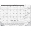 House of Doolittle Doodle Monthly Desk Pad - Julian - Monthly - January 2017 till December 2017 - 1 Month Single Page Layout - Desk Pad - Black/White - Notes Area, Reference Calendar
