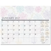 House of Doolittle Whimsical Doodle Monthly Desk Pad - Julian - Monthly - 1 Year - January 2017 till December 2017 - 1 Month Single Page Layout - Gummed - Desk Pad - Reference Calendar