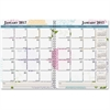 House of Doolittle Whimsical Floral Monthly Planner - Julian - Monthly, Daily - 1 Year - January 2017 till December 2017 - 1 Month Double Page Layout - Wire Bound - Reference Calendar, Durable, Hard C