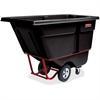 "Rubbermaid Commercial 1250 lb Cap. Std Duty Tilt Truck - 1250 lb Capacity - 33.5"" Width x 72.2"" Depth x 43.8"" Height - Black"