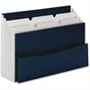 "Smead Three-pocket Mini Stadium File - Letter - 8 1/2"" x 11"" Sheet Size - 3 Pocket(s) - Navy Blue - Recycled - 1 Each"