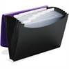 "Smead Poly 12-pocket Expanding File - Letter - 8 1/2"" x 11"" Sheet Size - 12 Internal Pocket(s) - Polypropylene - Purple, Black - 1 Each"