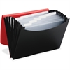 "Smead Poly 12-pocket Expanding File - Letter - 8 1/2"" x 11"" Sheet Size - 12 Internal Pocket(s) - Polypropylene - Red, Black - 1 Each"