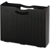 "Smead 3"" Expansion Poly File Box - Letter - 8 1/2"" x 11"" Sheet Size - 3"" Expansion - Polypropylene - Black - 1 Each"