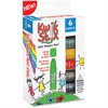 The Pencil Grip Kwik Stix 6-color Solid Tempera Paint - 6 / Pack - Green, Red, Black, Blue, Yellow, Gray