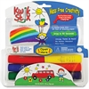 The Pencil Grip Kwik Stix Tempera Paint/Paper Set - 6 / Pack - Green, Red, Black, Blue, Yellow, Gray