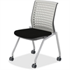 "Mayline Thesis - Static Back, Armless - Fabric Gray Seat - Poly Light Gray Back - Gray Frame - Four-legged Base - 18.25"" Seat Width x 17.50"" Seat Depth - 22.3"" Width x 22.5"" Depth x 33"" Height"