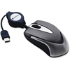 Verbatim USB-C Mini Optical Travel Mouse - Black - Optical - Cable - Black - USB - Notebook - Scroll Wheel