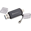 Verbatim 32GB iStore 'n' Go Dual USB 3.0 Flash Drive - 32 GB - Lightning, USB 3.0 - Graphite