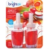 Bright Air Electric Scented Oil Dispenser Refill - Oil - Macintosh Apple, Cinnamon - 12 / Carton - Long Lasting