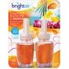 Bright Air Electric Scented Oil Dispenser Refill - Oil - Hawaiian Blossom, Papaya - 12 / Carton - Long Lasting