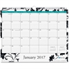 "Blue Sky Ruled Blocks Barcelona Wall Calendar - Julian - Monthly, Daily - 1 Year - January till December - 1 Month Single Page Layout - 15"" x 12"" - Wire Bound - Wall Mountable - Multicolor - Writable"