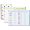 Blue Sky Teacher Dots Clear Cover Planner - Academic - Weekly, Monthly - 1 Year - July 2016 till June 2017 - 2 Week, 2 Month Double Page Layout - Wire Bound - Aqua - Multi-colored - Tabbed, Writable S