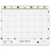 "Blue Sky Today's Teacher Dots Academic Year 16/17 Monthly 15 x 12 Wall Calendar - Academic - Julian - Monthly, Daily - 1 Year - July 2016 till June 2017 - 1 Month Single Page Layout - 15"" x 12"" - Wire"
