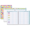 Blue Sky Teacher Squares Large Planner - Large Size - Academic - Weekly, Monthly, Daily - 1 Year - July 2016 till June 2017 - 2 Week, 2 Month Double Page Layout - Wire Bound - Multicolor, Aqua - Tabbe
