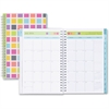 Blue Sky Teacher Squares Small Planner - Small Size - Academic - Weekly, Monthly, Daily - 1 Year - July 2016 till June 2017 - 2 Week, 2 Month Double Page Layout - Wire Bound - Multicolor, Aqua - Tabbe