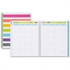 Blue Sky Teacher Stripes Planner - Academic - Weekly, Monthly, Daily - 1 Year - July 2016 till June 2017 - 2 Week, 2 Month Double Page Layout - Wire Bound - Multicolor, Aqua - Tabbed, Writable Surface