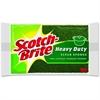 "Scotch-Brite Heavy-Duty Scrub Sponges - 2.8"" Height4.5"" Depth - 36/Carton - Green, Yellow"