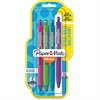 Paper Mate InkJoy 300 RT Pen Fashion-wrap Barrel - Medium Point Type - 1 mm Point Size - Purple, Lime, Turquoise, Magenta - 4 / Pack