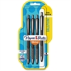 Paper Mate InkJoy 700 RT Ballpoint Pens - 1 mm Point Size - Black - Black Barrel - 4 / Pack