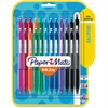 Paper Mate 300RT Effortless Glide Ballpoint Pens - Medium Point Type - 1 mm Point Size - Assorted - Transparent Barrel - 24 / Pack