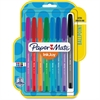 Paper Mate InkJoy 100 RT Pens - Medium Point Type - 1 mm Point Size - Assorted - Translucent Barrel - 8 / Pack