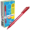 Paper Mate InkJoy 100 RT Pens - Medium Point Type - 1 mm Point Size - Red - Translucent Barrel - 1 Dozen