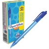 Paper Mate InkJoy 100 RT Pens - Medium Point Type - 1 mm Point Size - Blue - Translucent Barrel - 1 Dozen