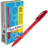 Paper Mate Inkjoy 100 Ballpoint Stick Pens - Medium Point Type - 1 mm Point Size - Red - Translucent Barrel - 1 Dozen