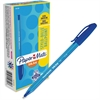 Paper Mate Inkjoy 100 Ballpoint Stick Pens - Medium Point Type - 1 mm Point Size - Blue - Translucent Barrel - 1 Dozen