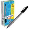 Paper Mate Inkjoy 100 Ballpoint Stick Pens - Medium Point Type - 1 mm Point Size - Black - Translucent Barrel - 1 Dozen