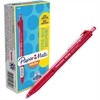 Paper Mate Inkjoy 300 RT Ballpoint Pens - 1 mm Point Size - Red - Red Barrel - 1 Dozen