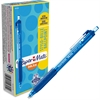 Paper Mate Inkjoy 300 RT Ballpoint Pens - 1 mm Point Size - Blue - Blue Barrel - 1 Dozen