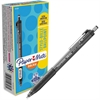 Paper Mate Inkjoy 300 RT Ballpoint Pens - 1 mm Point Size - Black - Black Barrel - 1 Dozen