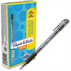 Paper Mate Inkjoy 300 Extra-smooth Ballpoint Pens - Medium Point Type - 1 mm Point Size - Black - Clear Barrel - 1 Dozen