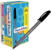 Paper Mate Inkjoy 100 Ballpoint Stick Pens - Medium Point Type - 1 mm Point Size - Black - Translucent Barrel - 48 / Box